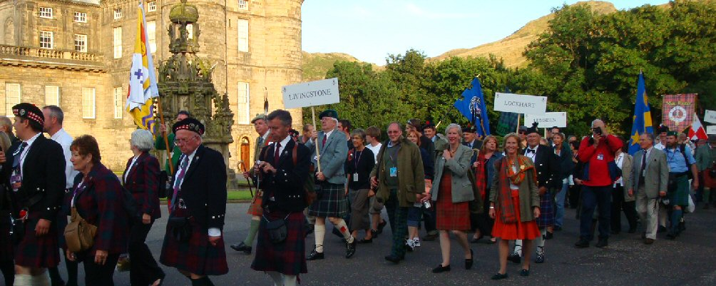 Clan MacLea/Livingstone at Holyrood